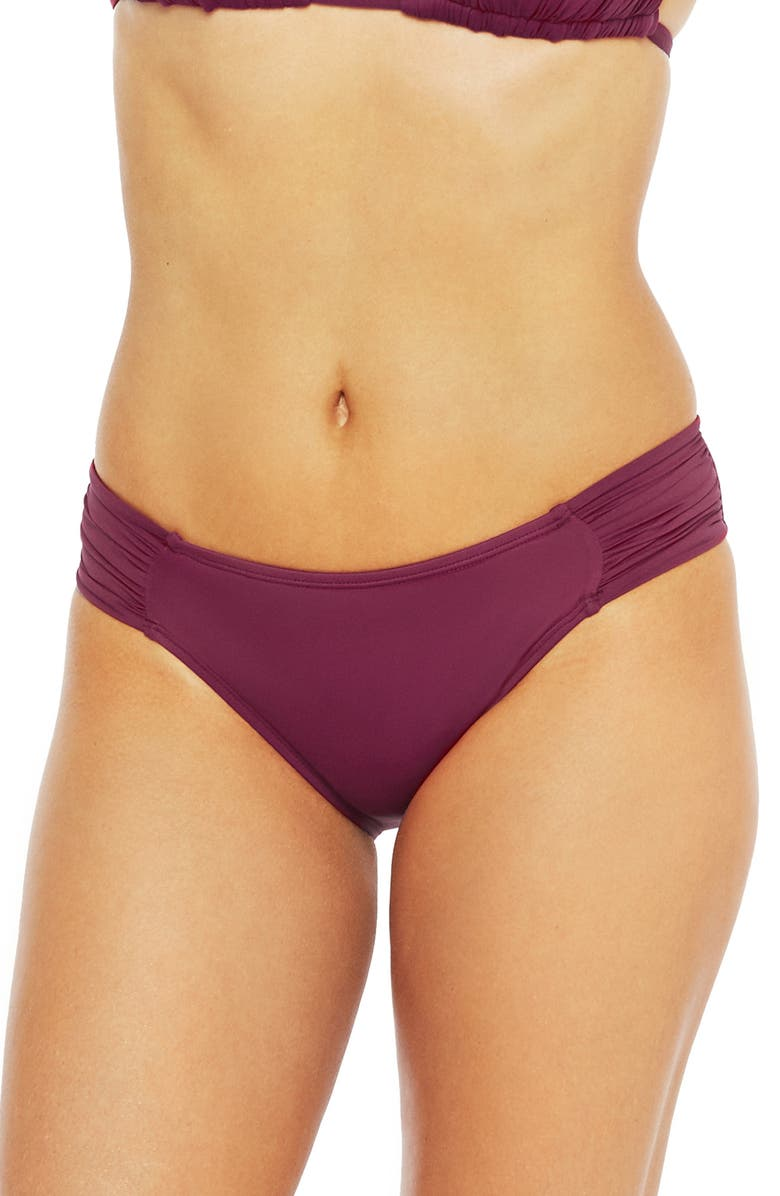 LA BLANCA Island Goddess Hipster Bikini Bottoms, Main, color, WINE