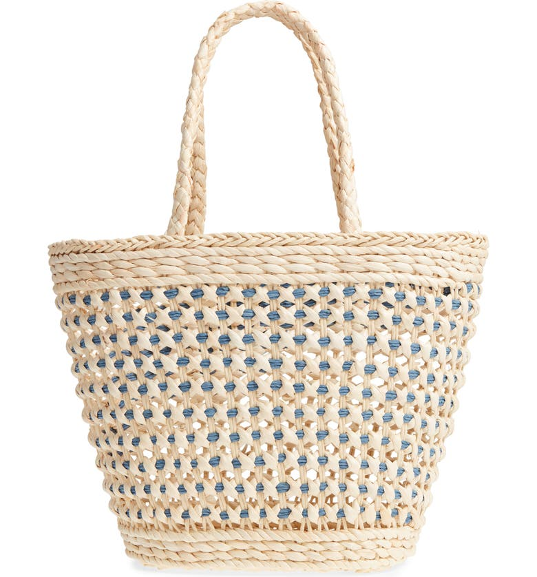 NORDSTROM Woven Straw Tote, Main, color, 235