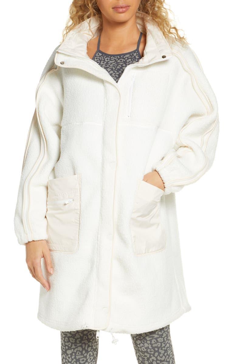 FREE PEOPLE FP MOVEMENT Glacier Fleece Jacket, Main, color, IVORY