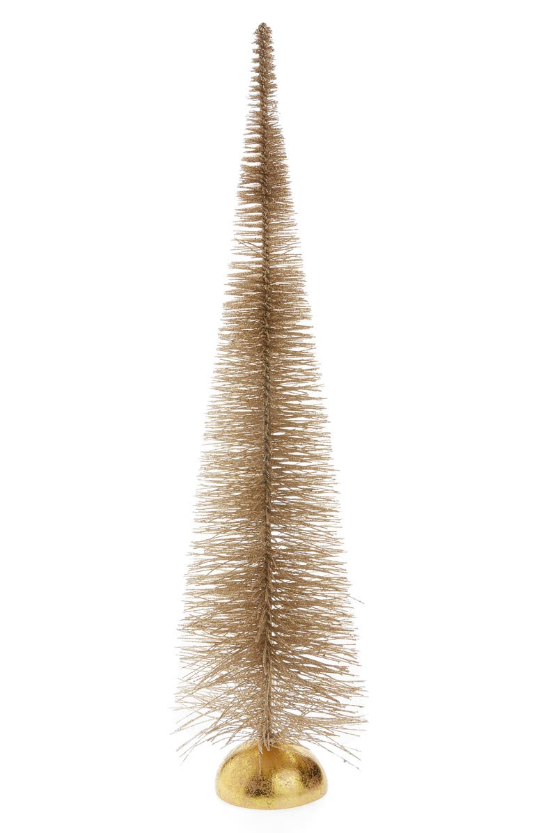RACHEL PARCELL 24-Inch Glitter Bottle Brush Tree, Main, color, METALLIC BUBBLE