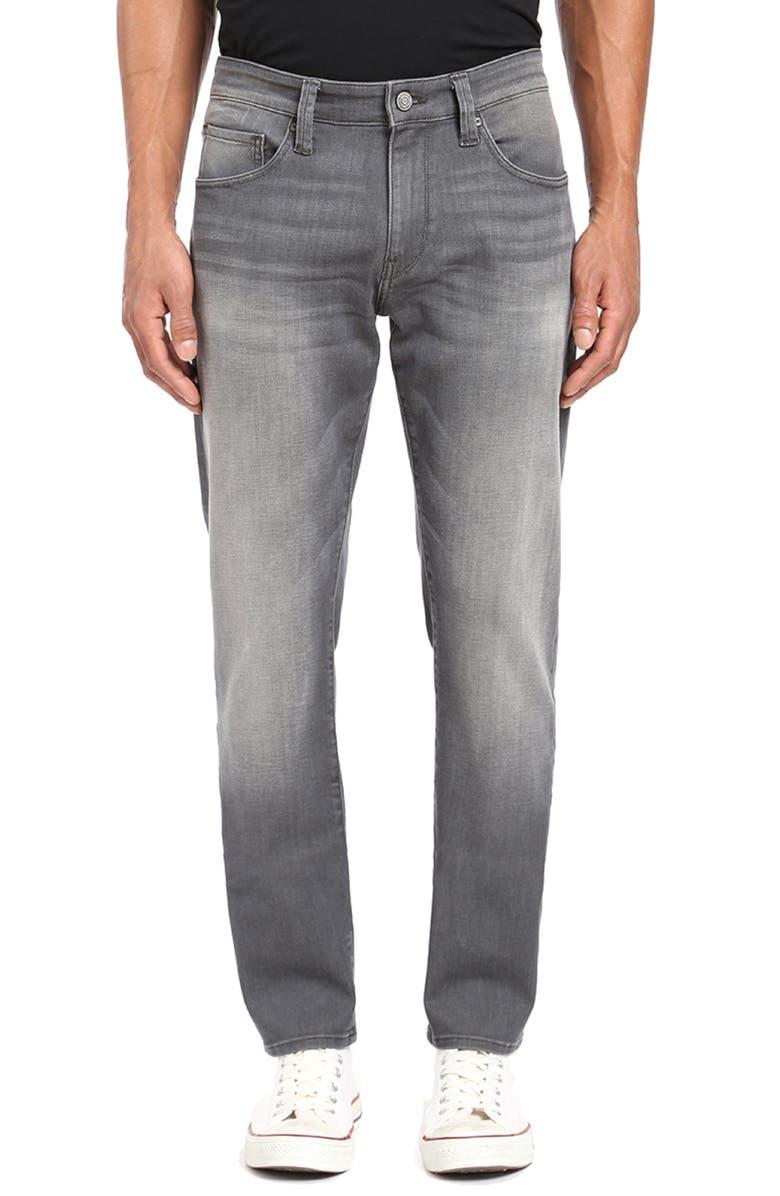 MAVI JEANS Marcus Slim Straight Leg Jeans, Main, color, LIGHT GREY BROOKLYN