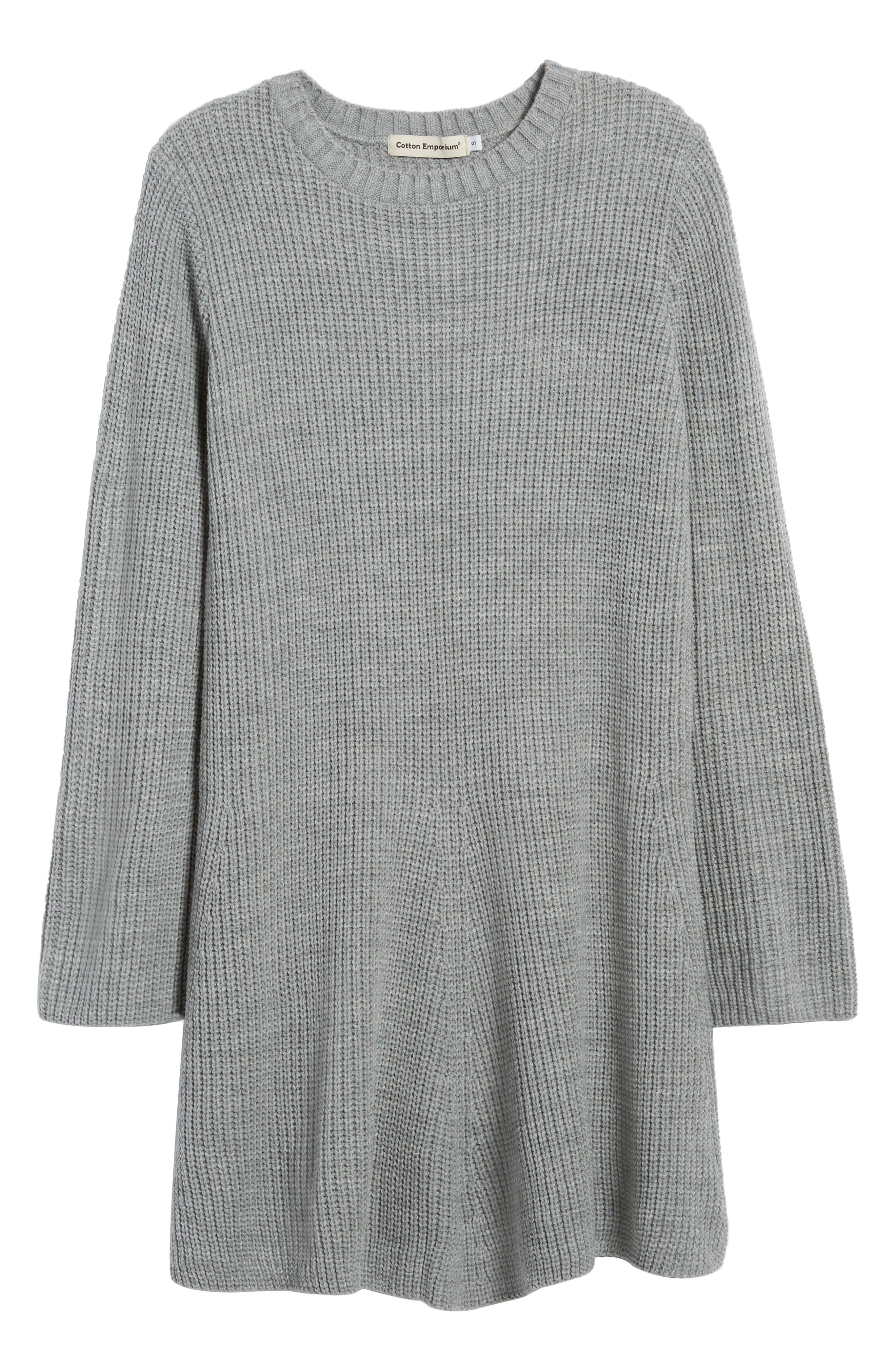 ,                             Flared Sleeve Sweater Dress,                             Alternate thumbnail 6, color,                             020