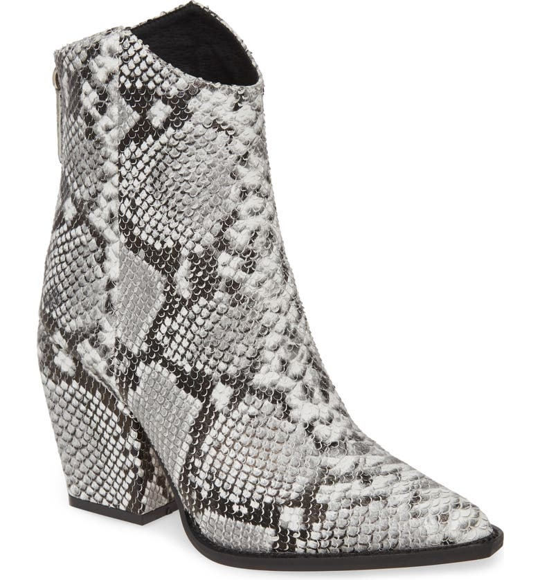 ALIAS MAE West Bootie, Main, color, BEIGE SNAKE PRINT LEATHER