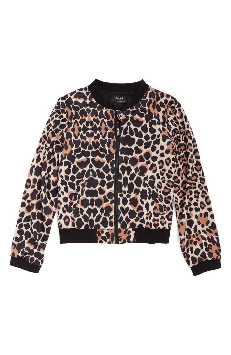 df7b9c905cbc Bardot Junior Leopard Print Bomber Jacket (Big Girls) | Nordstrom