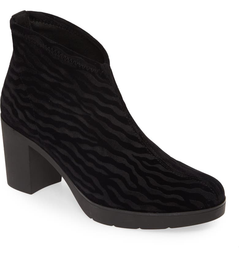 TONI PONS Finley Pull-On Bootie, Main, color, BLACK ZEBRA FABRIC