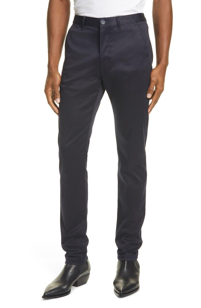 SAINT LAURENT Chino Pants, Main, color, NAVY