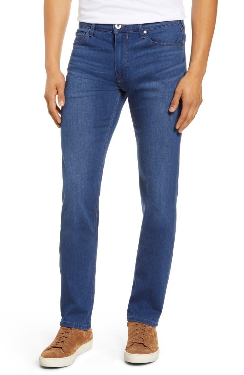 PAIGE Transcend Lennox Slim Fit Jeans, Main, color, HENSLEY