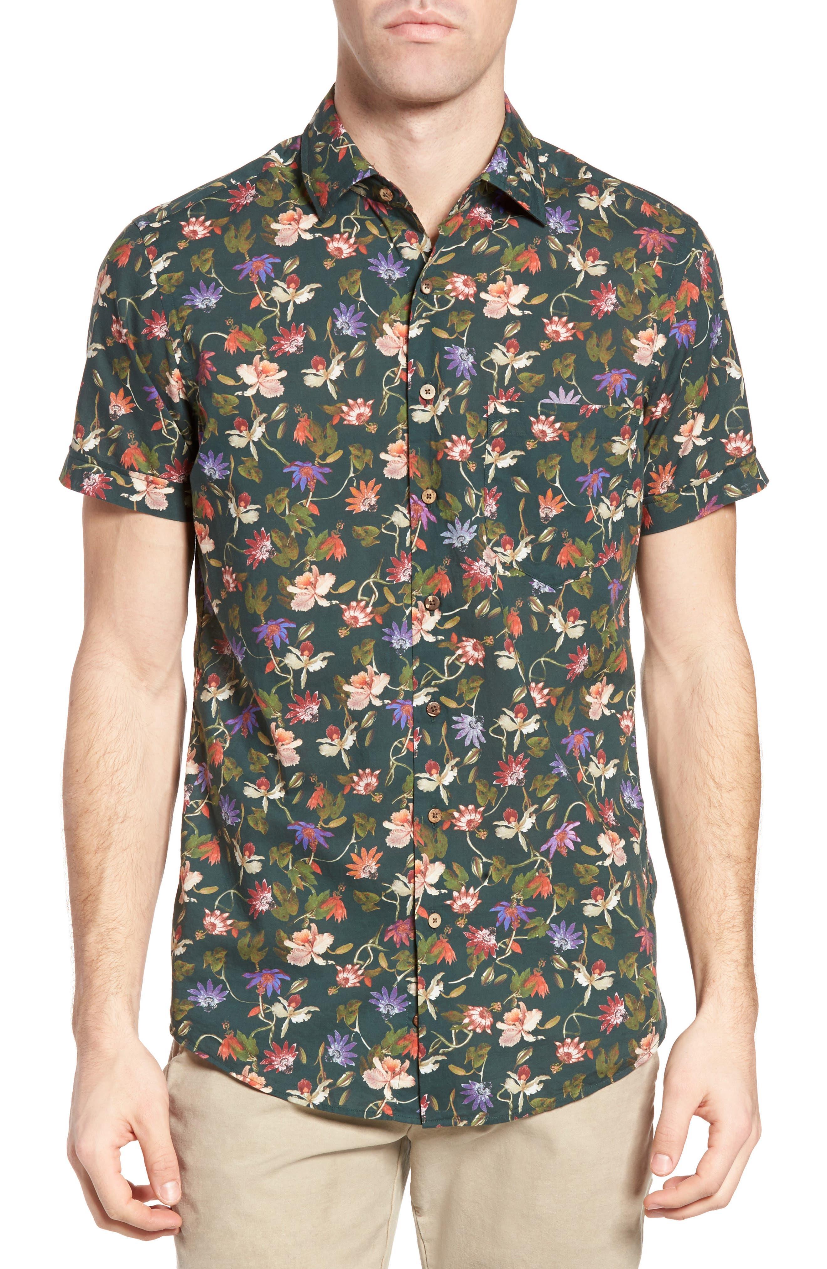 Image of RODD AND GUNN Greymouth Slim Fit Print Sport Shirt