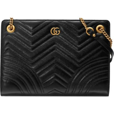 Gucci Marmont Quilted Leather Tote - Black