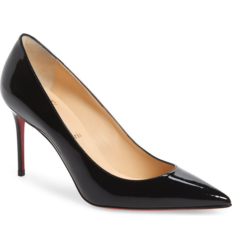 CHRISTIAN LOUBOUTIN Pointy Toe Pump, Main, color, BLACK PATENT