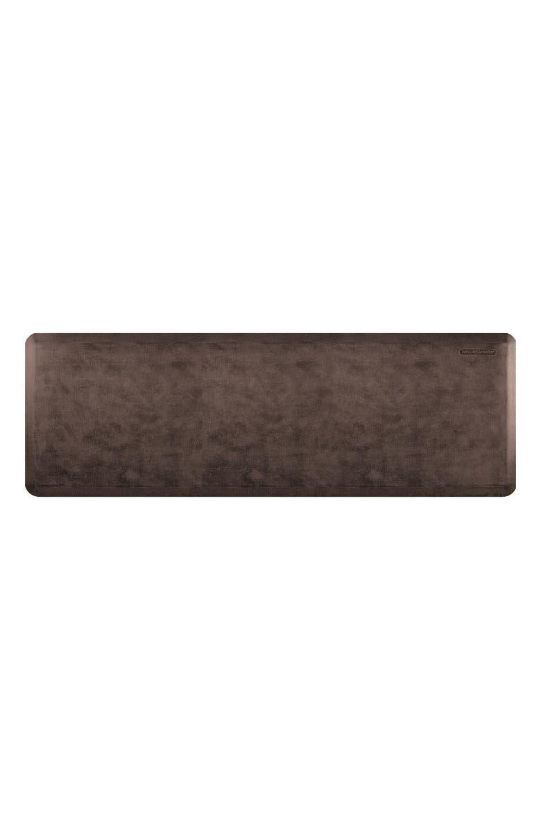 WELLNESSMATS Linen Collection Anti Fatigue Floor Mat, Main, color, ANTIQUE DARK