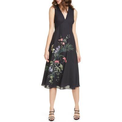 Ted Baker London Emersin Highland Dress, (fits like 00 US) - Black