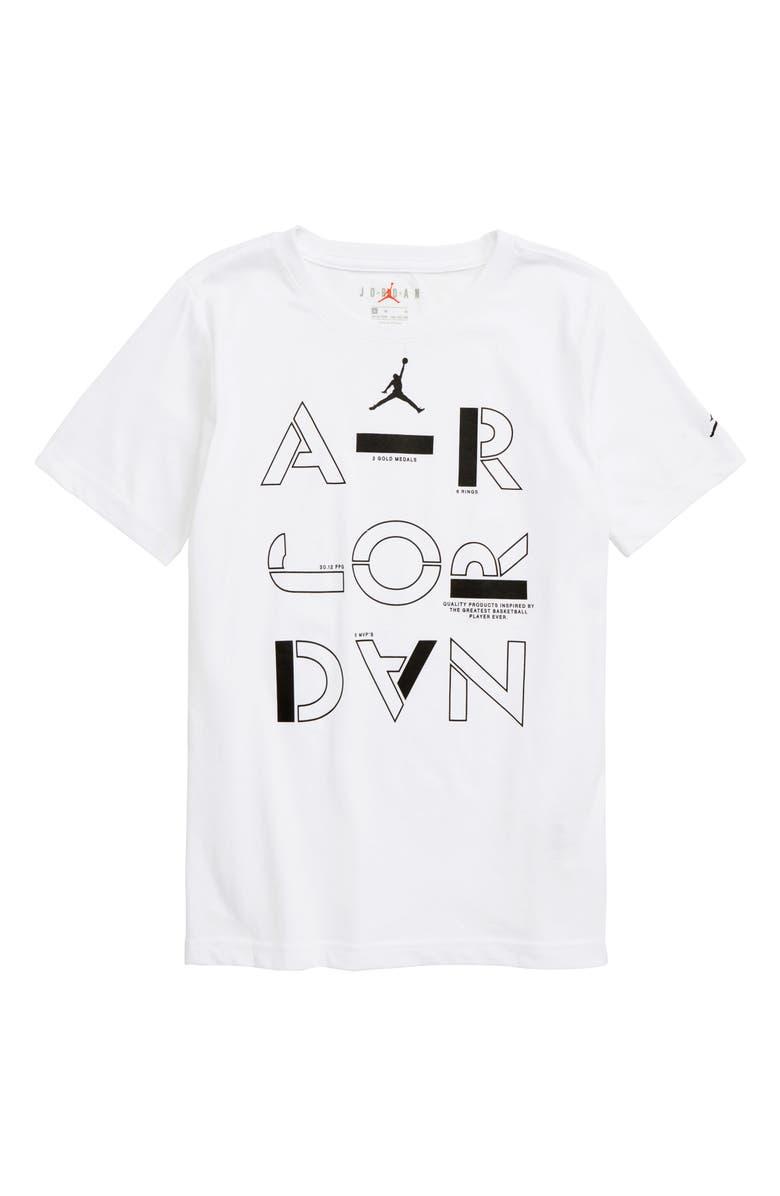 JORDAN Air Jordan Stencil Graphic T-Shirt, Main, color, WHITE