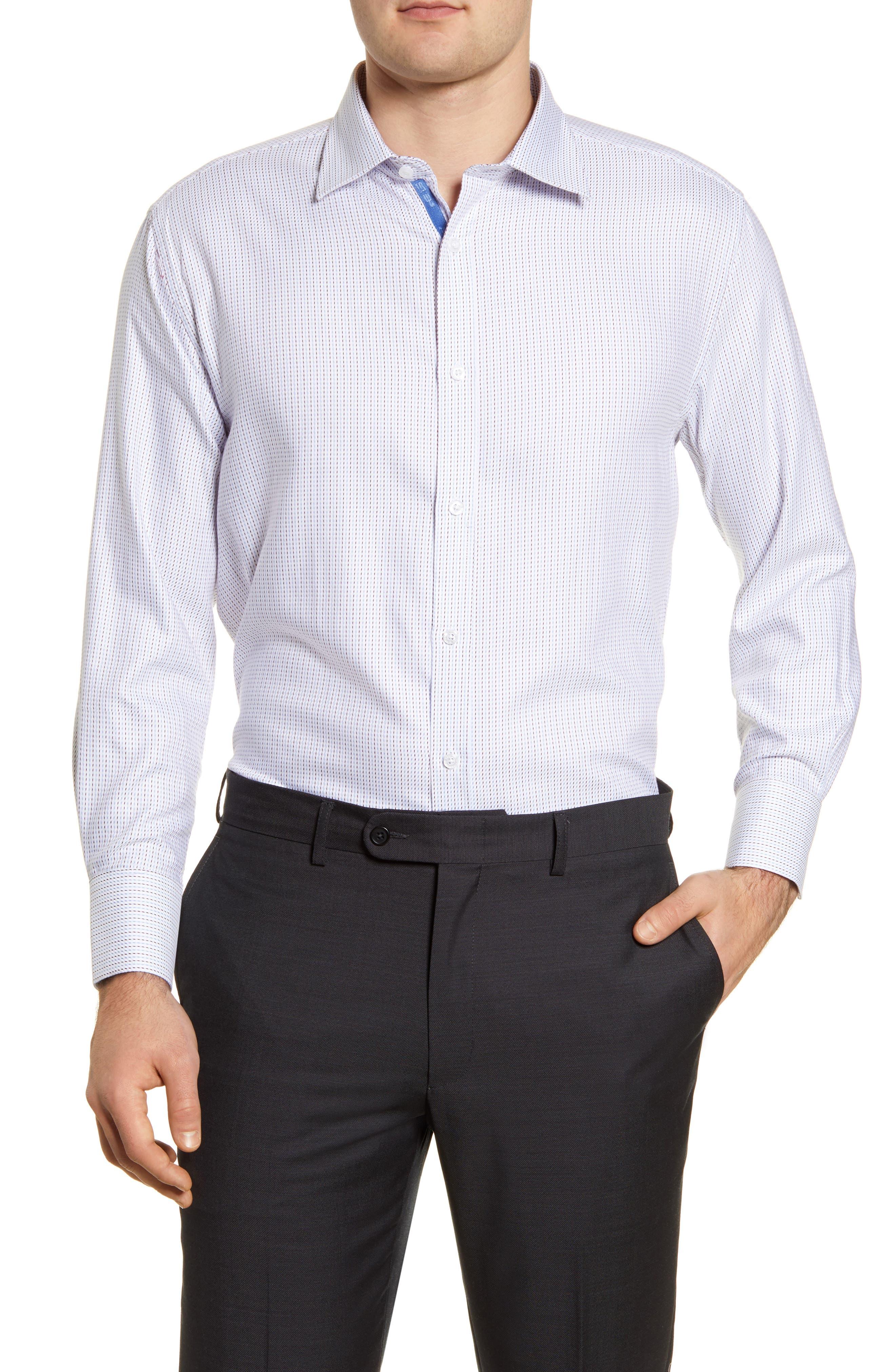 Trim Fit Stripe Dress Shirt