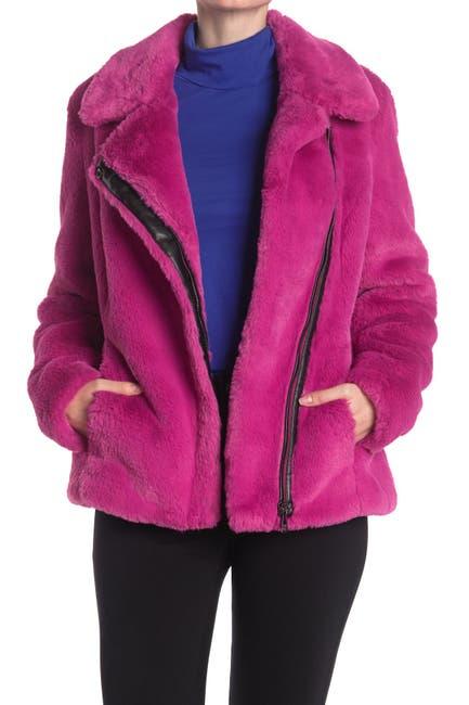 Image of Calvin Klein Faux Fur Zip Jacket