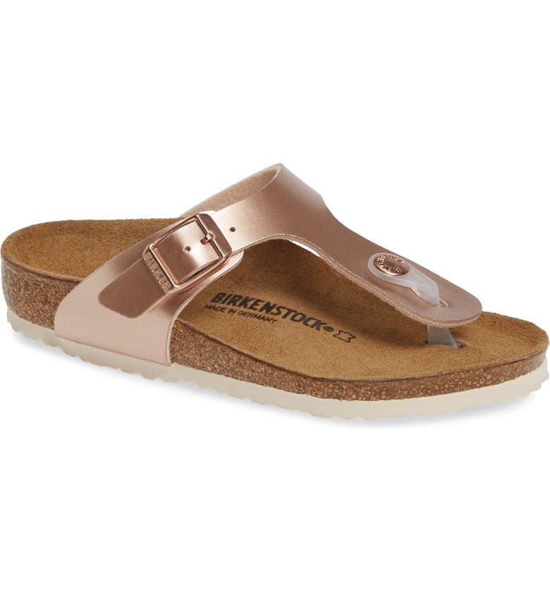 BIRKENSTOCK Gizeh Sandal, Main, color, ELECTRIC METALLIC COPPER