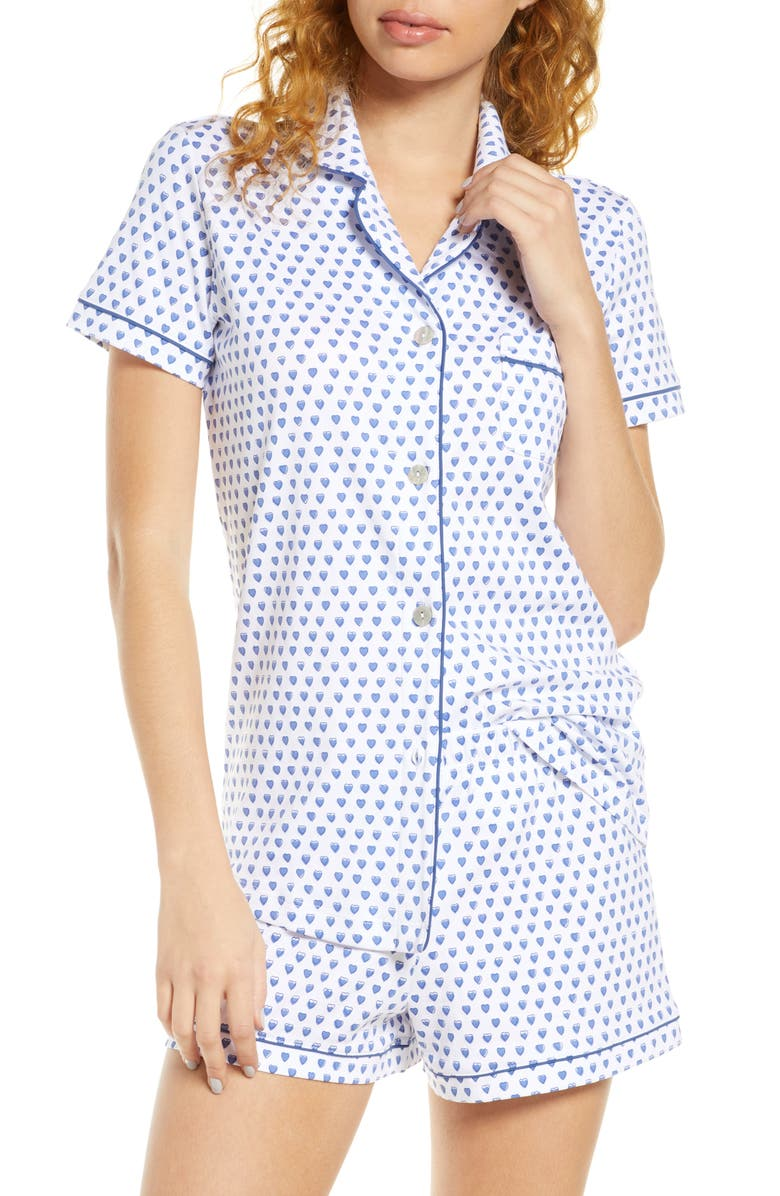 ROLLER RABBIT Heart Short Pajamas, Main, color, BLUE