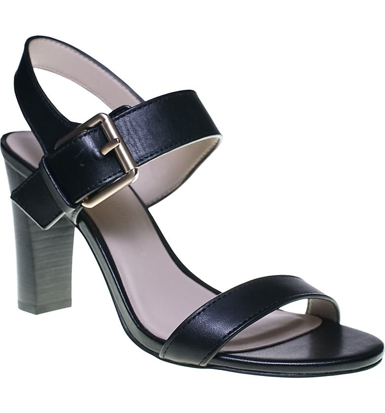 CUPCAKES AND CASHMERE Gisela Sandal, Main, color, BLACK LEATHER