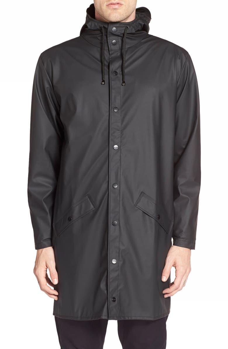 21821f257 Rains Waterproof Hooded Long Rain Jacket | Nordstrom