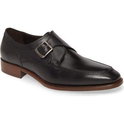 Johnston & Murphy Cormac Monk Strap Shoe, Black