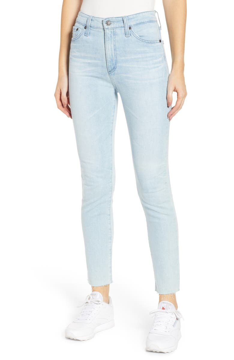AG Sophia High Waist Ankle Skinny Jeans, Main, color, 490