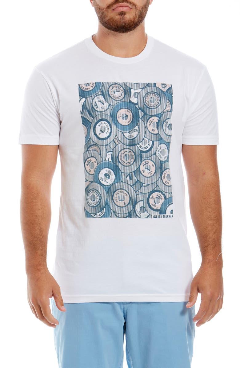 BEN SHERMAN Halftones Graphic T-Shirt, Main, color, WHITE