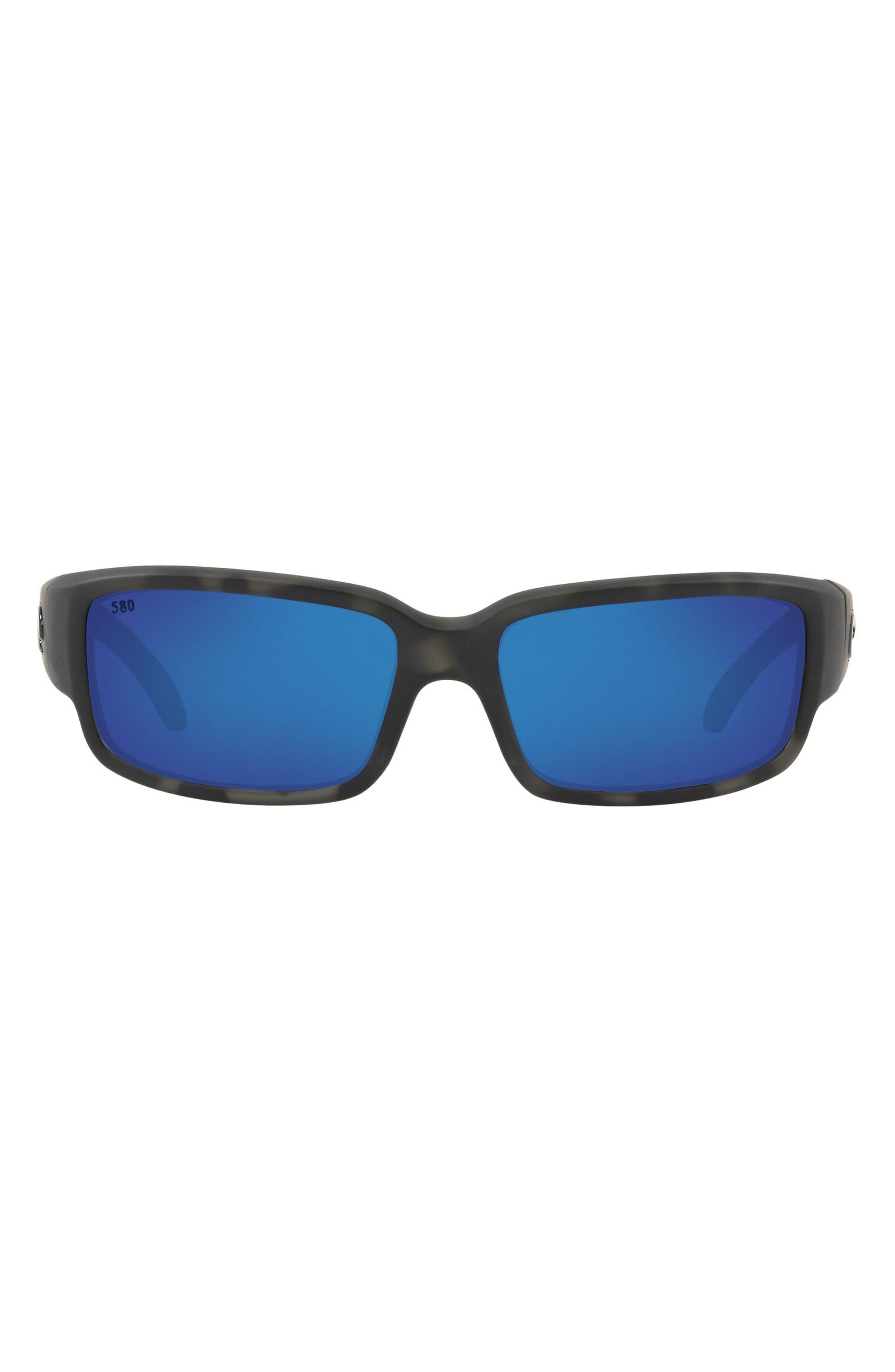 59mm Polarized Rectangular Sunglasses