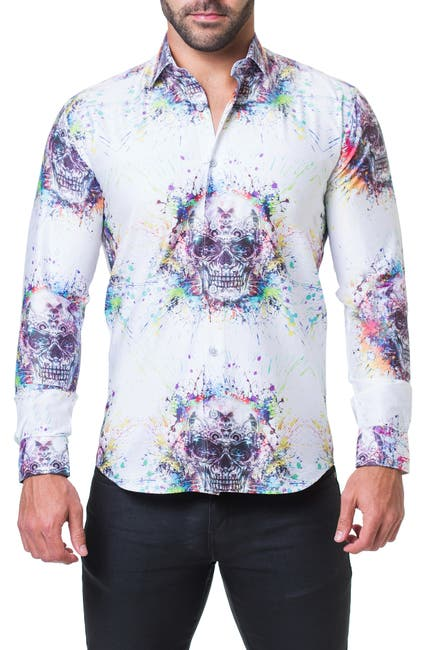 Image of Maceoo Fibonacci Trim Fit Shirt