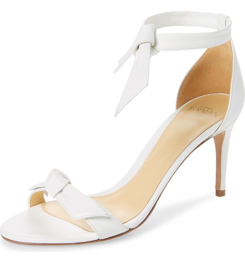 ALEXANDRE BIRMAN Clarita Ankle Tie Sandal, Main, color, WHITE