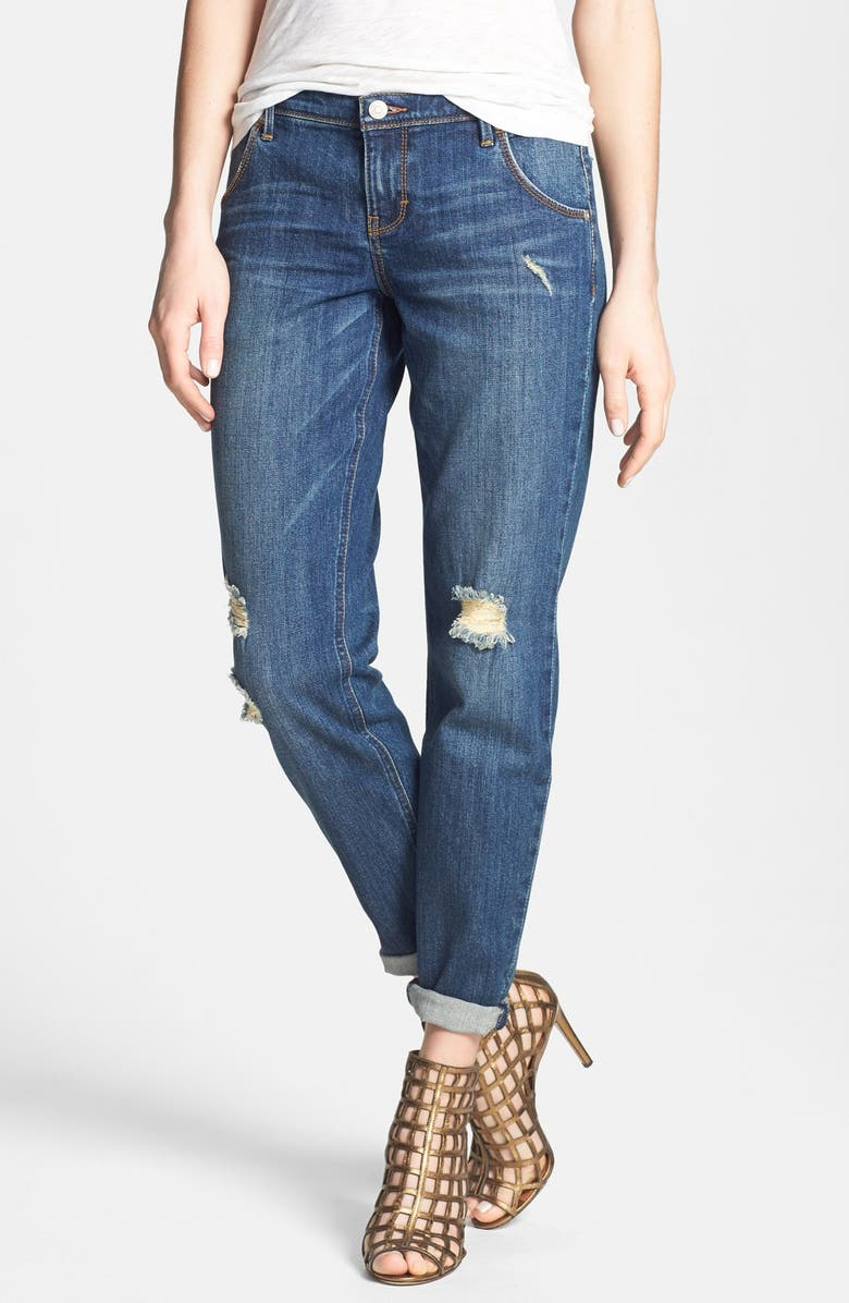 DITTOS 'Charlie' Destroyed Boyfriend Jeans, Main, color, 400