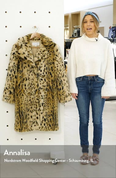 Jericho Leopard Faux Fur Coat, sales video thumbnail