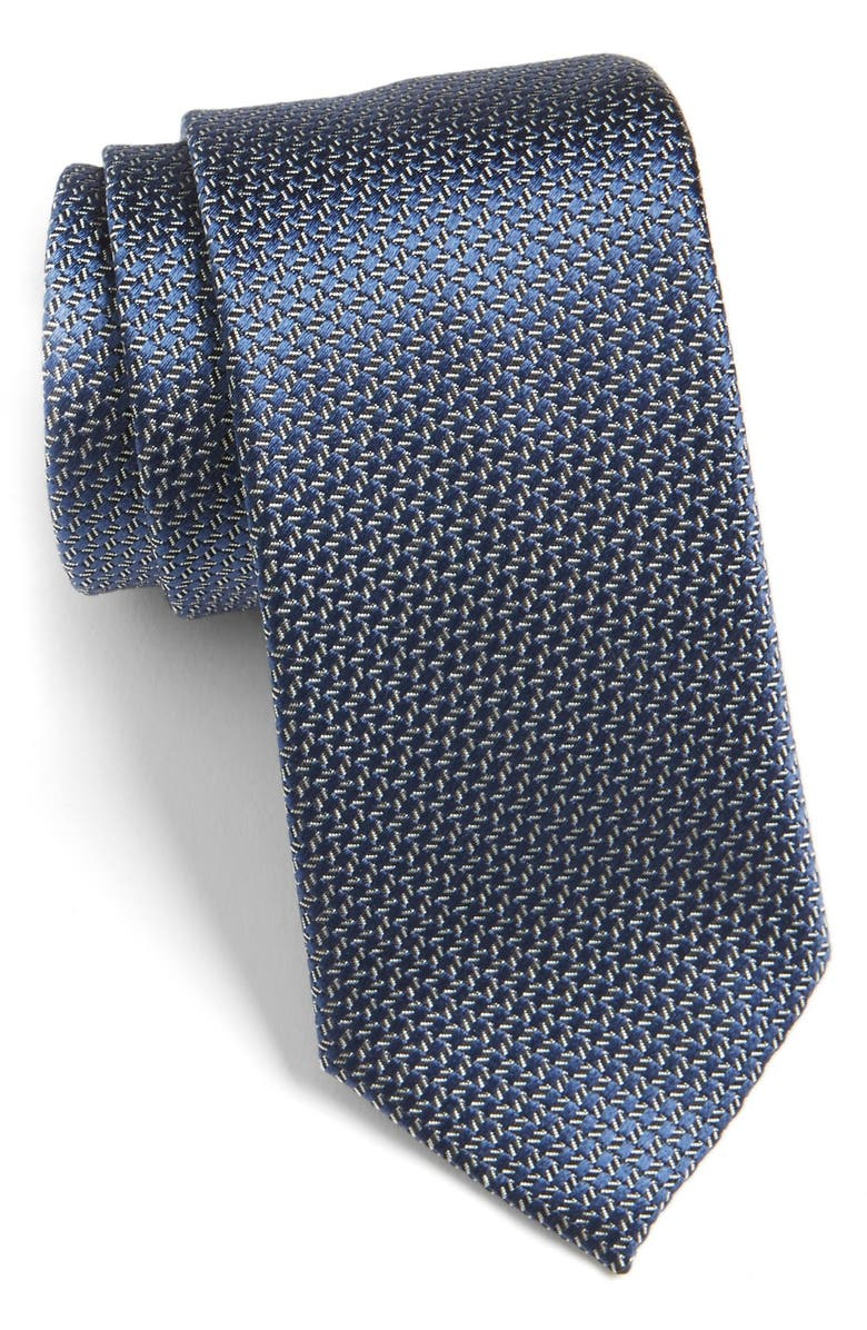 ZZDNUHUGO BOSS HUGO Pattern Silk Tie, Main, color, 411