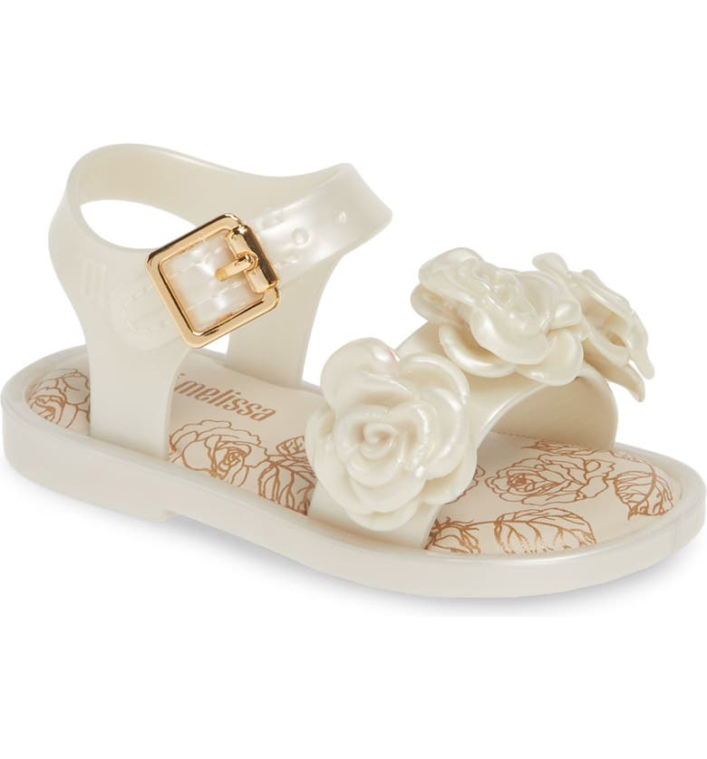 MELISSA Mini Melissa Mar San Sandal, Main, color, WHITE