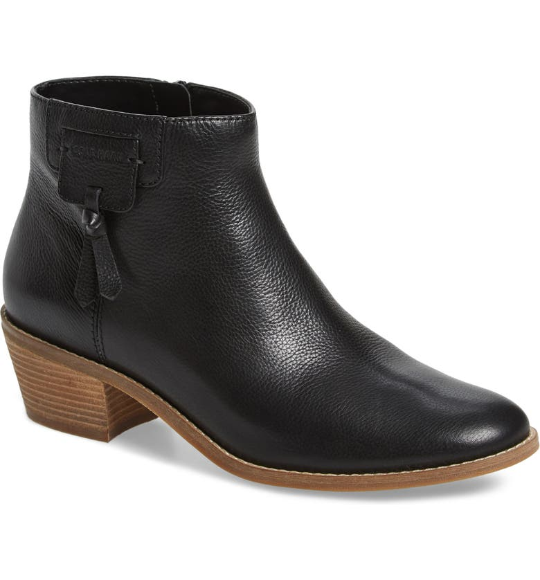 COLE HAAN Joanna Bootie, Main, color, BLACK TUMBLED LEATHER