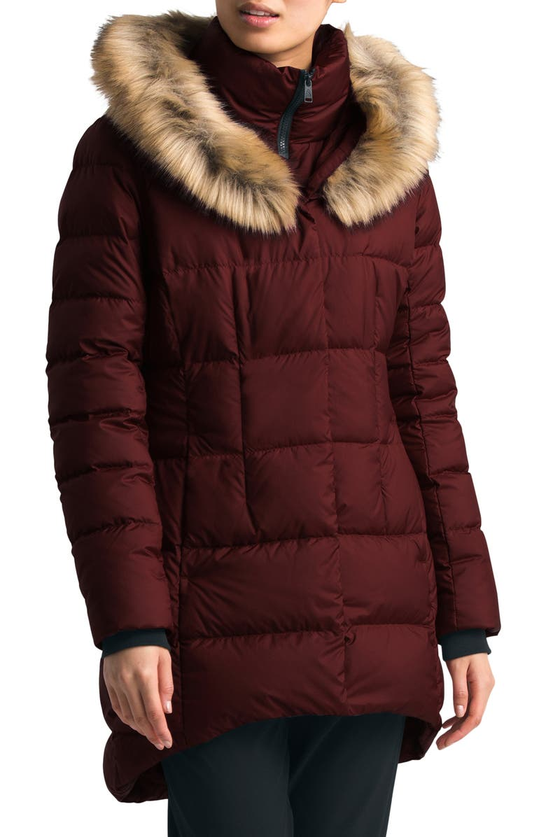THE NORTH FACE Dealio 550 Fill Power Down Parka, Main, color, DEEP GARNET RED
