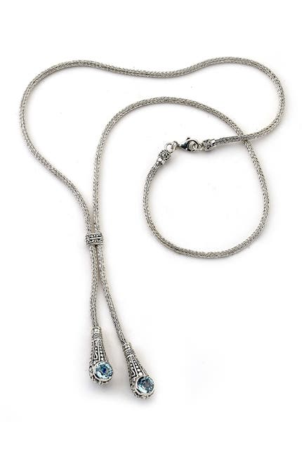 Image of Samuel B Jewelry Sterling Silver Amethyst Adjustable Bolo Necklace