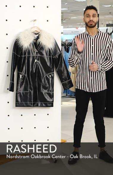 Vinyl Faux Fur Collar Coat, sales video thumbnail