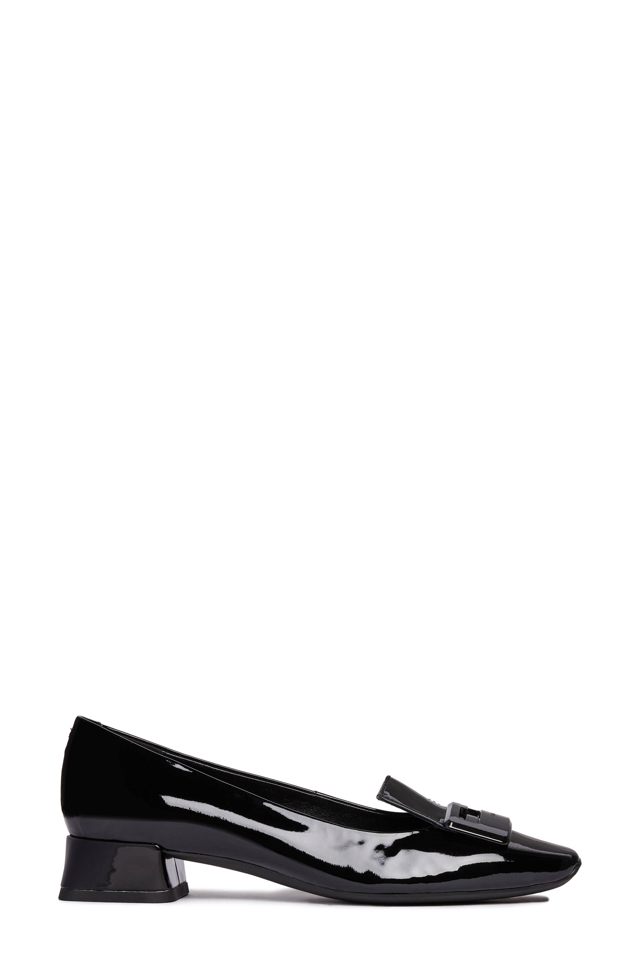 ,                             Vivyanne Square Toe Loafer Pump,                             Alternate thumbnail 3, color,                             BLACK PATENT LEATHER