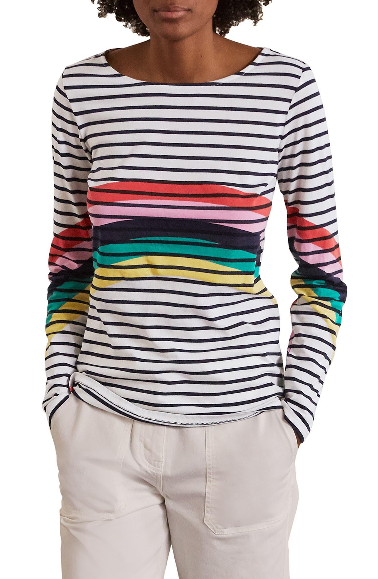 Breton Stripe Long Sleeve Top