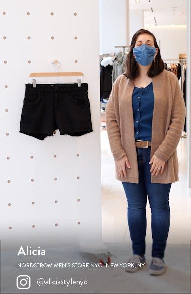 Gidget Frayed Hem Denim Shorts, sales video thumbnail