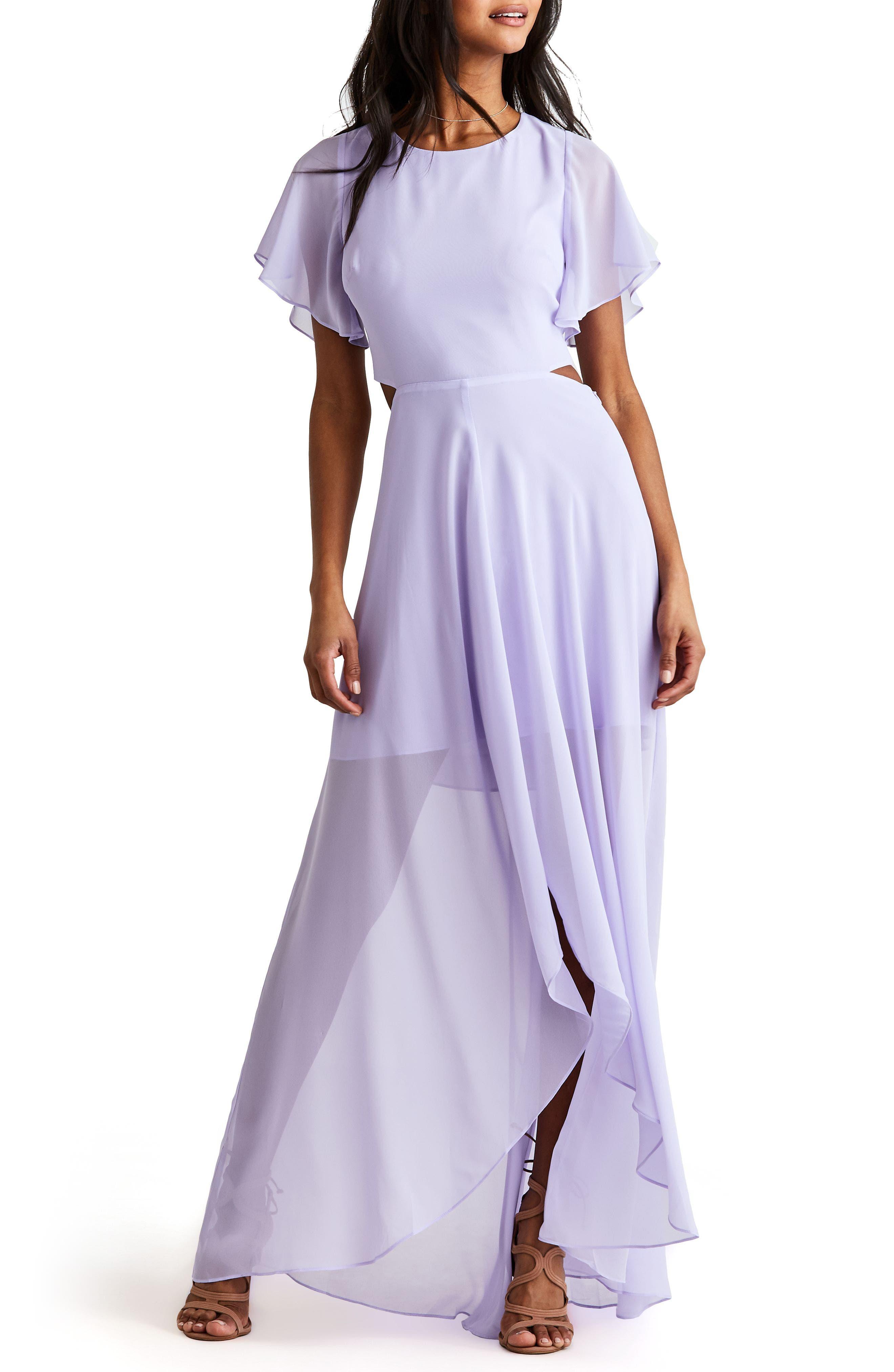 Ali & Jay Cutout Maxi Dress, Purple