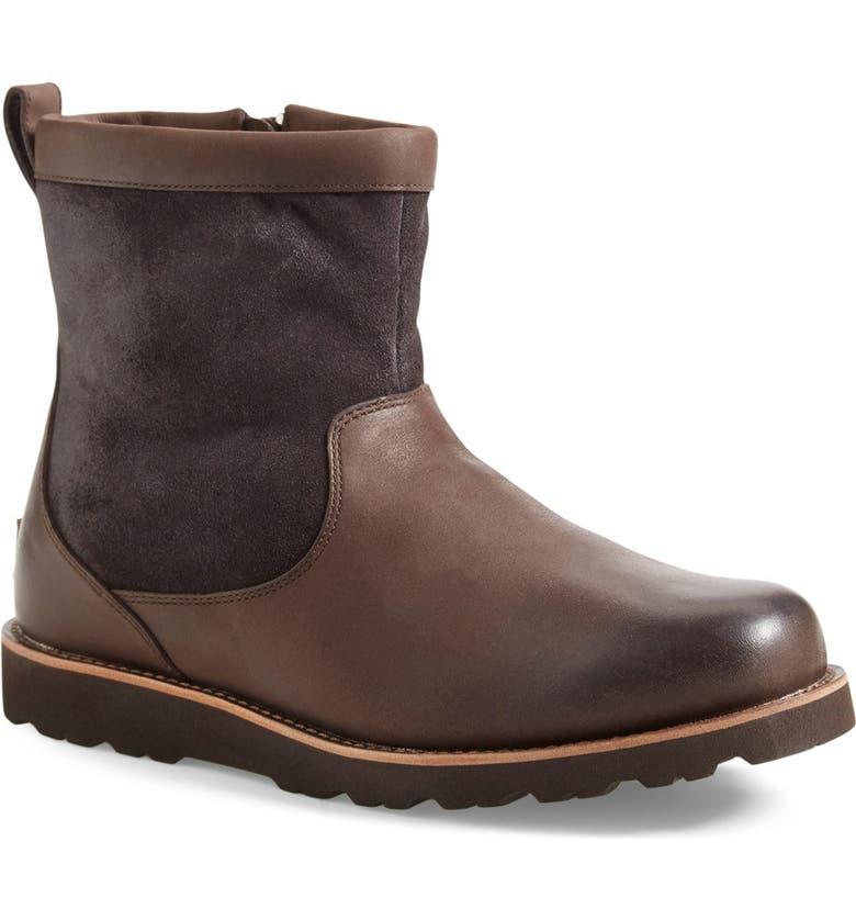 UGG<SUP>®</SUP> Hendren TL Waterproof Zip Boot, Main, color, STOUT