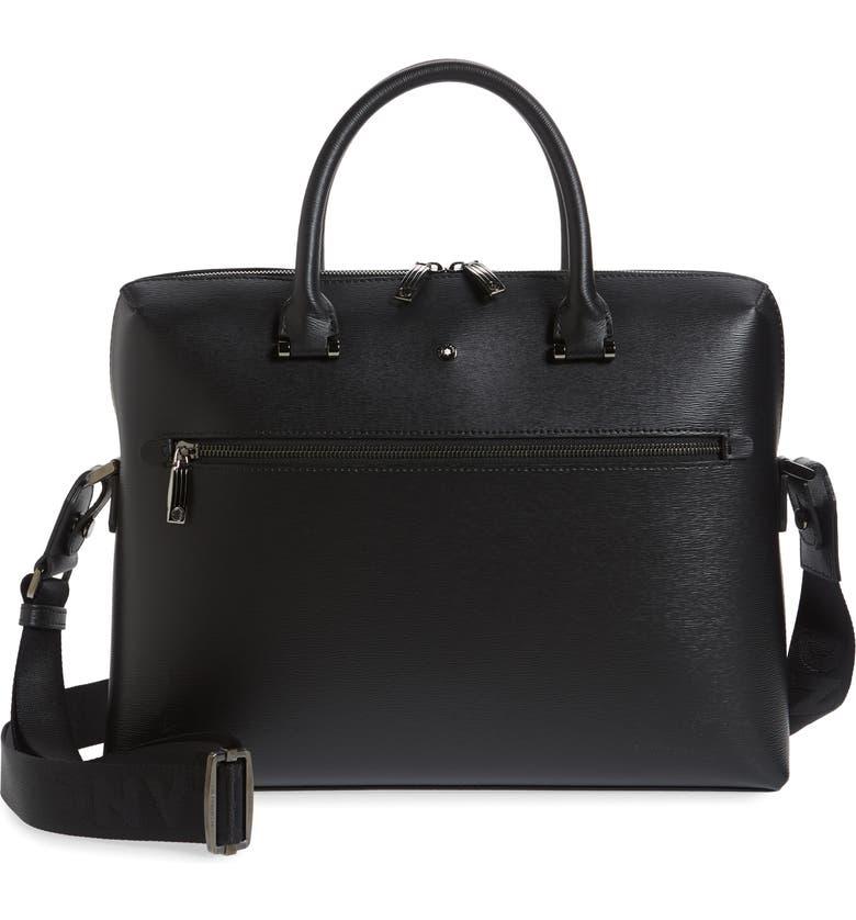 MONTBLANC Westside Slim Leather Document Case, Main, color, BLACK