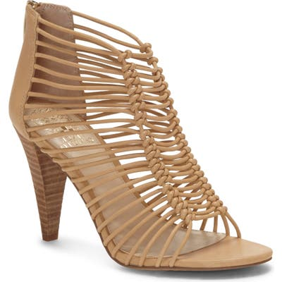 Vince Camuto Alsandra Strappy Cage Sandal, Beige