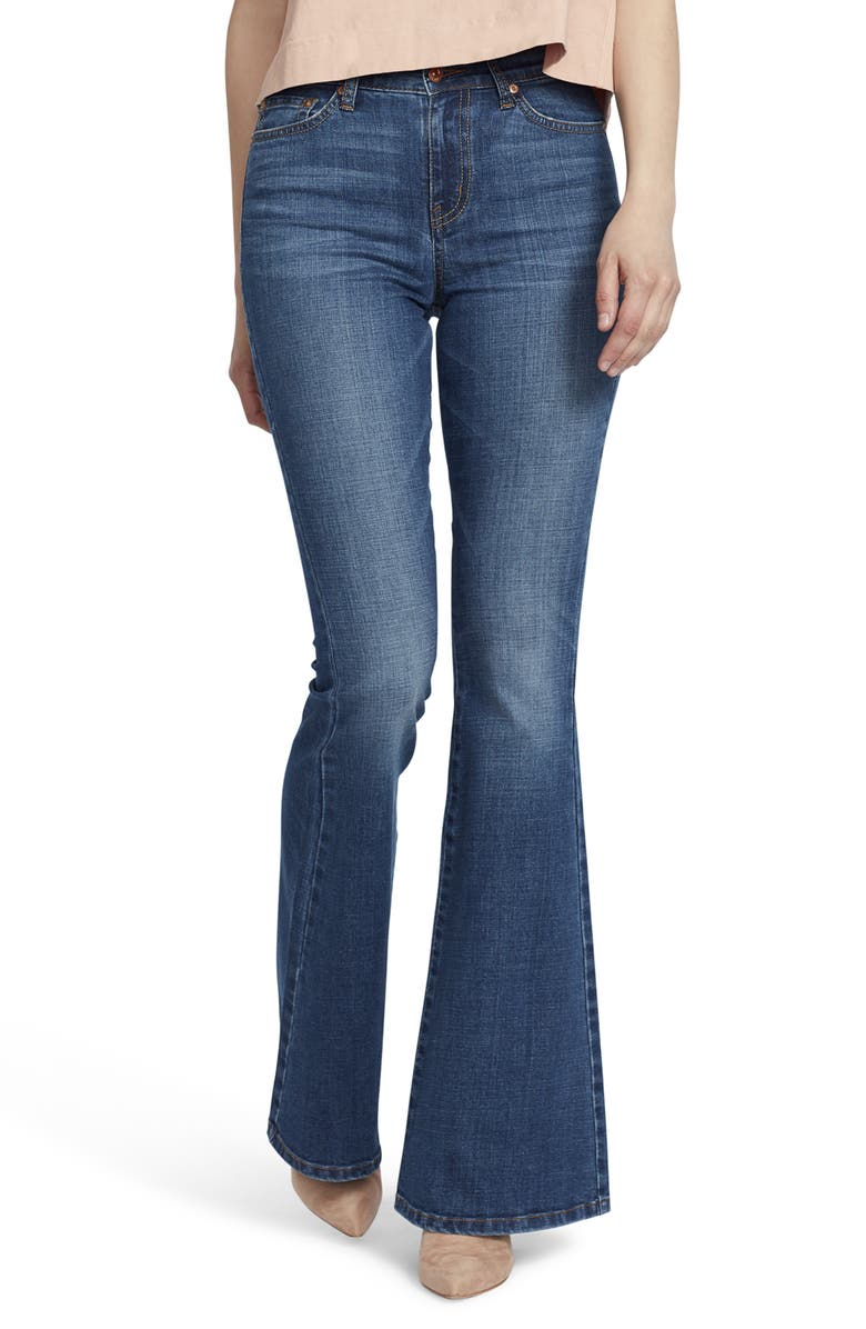 ELLA MOSS High Waist Flare Jeans, Main, color, NAOMI