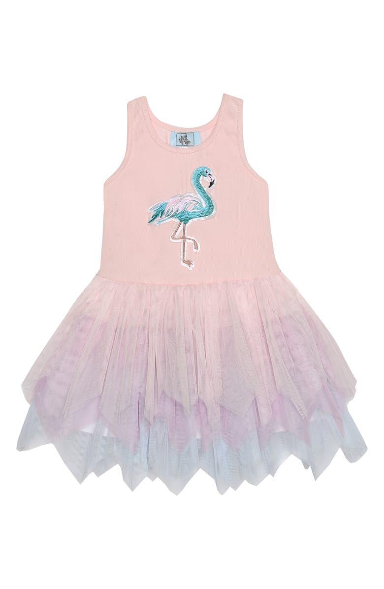 PIPPA & JULIE Flamingo Tutu Tank Dress, Main, color, PINK