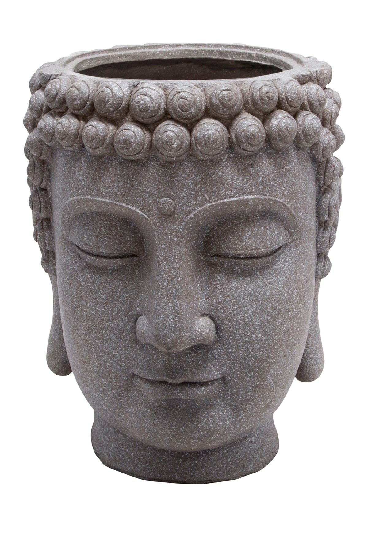 Image of SAGEBROOK HOME Gray Buddha Head Planter