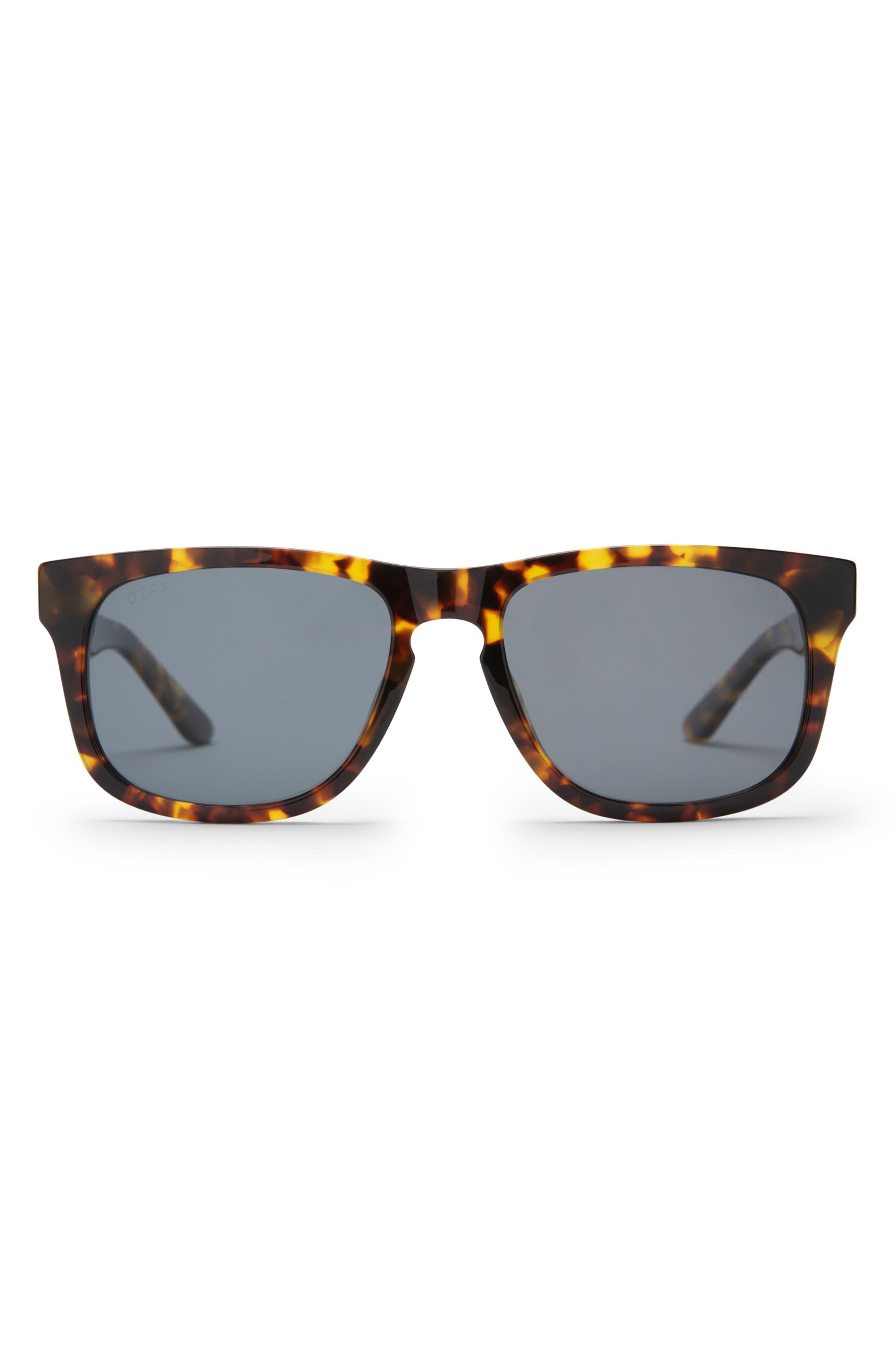 Riley 55mm Polarized Rectangle Sunglasses