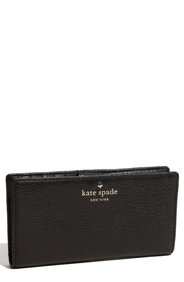 KATE SPADE NEW YORK 'cobble hill - stacy' wallet, Main, color, 001