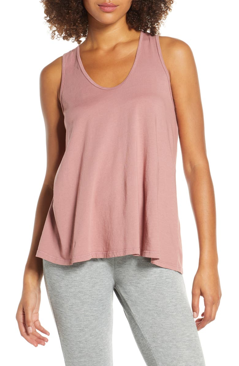 GROCERIES APPAREL Dana Organic Cotton Tank, Main, color, ROSE